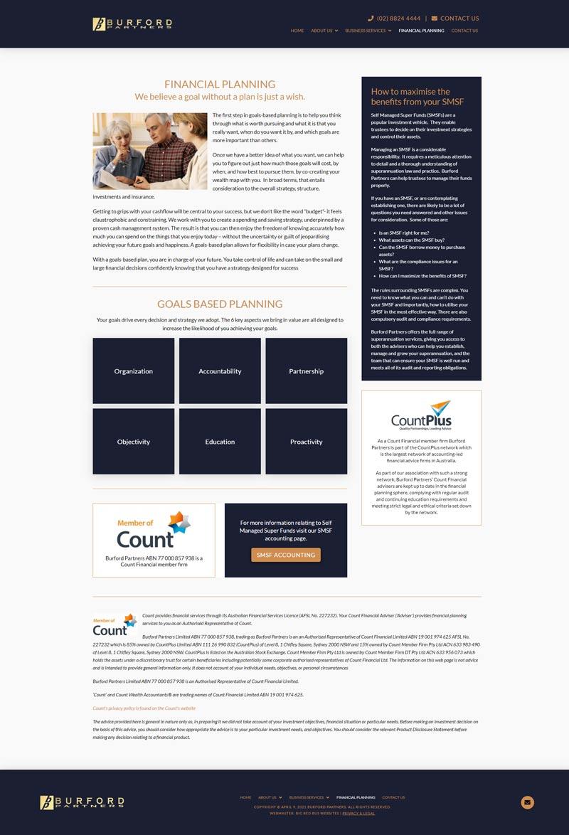 Burfords Partners website designed by Big Red Bus Websites - example 2