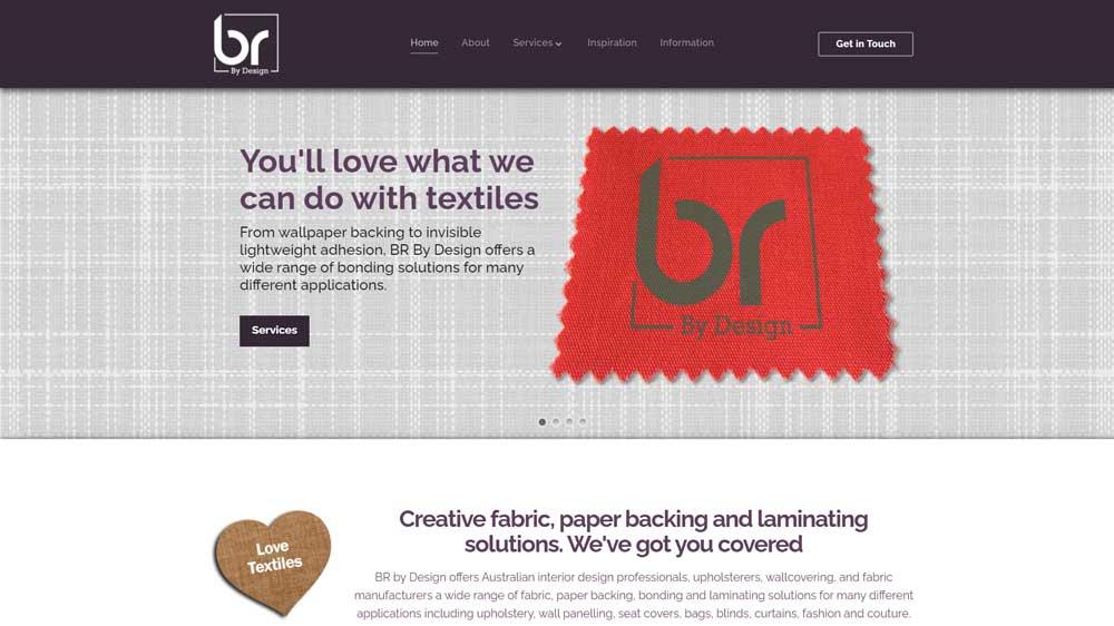 BR By Design website designed by Big Red Bus Websites - desktop view