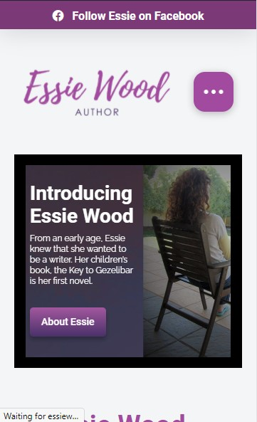 Essie Wood – Author website designed by Big Red Bus Websites - mobile view