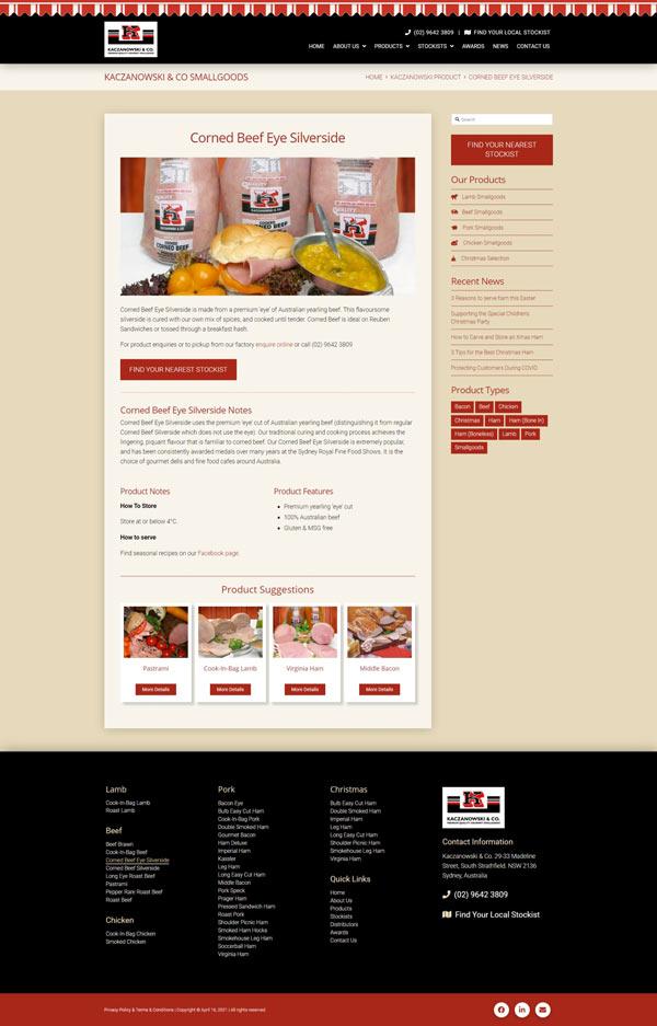 Kaczanowski & Co website designed by Big Red Bus Websites - ezample 1