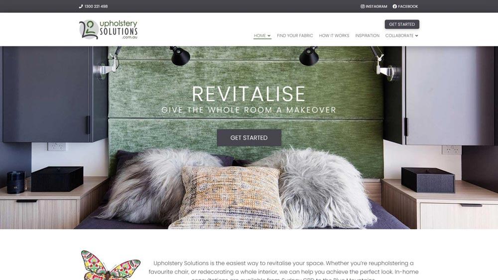 Upholstery website powered by WordPress